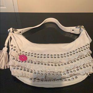 betsey johnson white purse